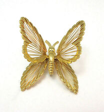 Pin / Brooch * Vintage Gold Tone Monet Butterfly