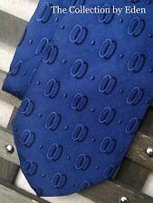 Perry Ellis Neckwear, Blue Oval Geometric Print Silk Neck Tie