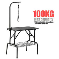80cm Foldable Pet Dog Grooming Table Adjustable Arm Non Slip Surface Portable