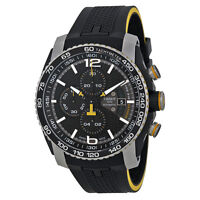 Tissot PRS 516 Automatic Chronograph Black Dial Black Rubber Mens Watch
