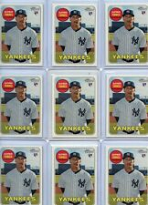 LOT OF (9) 2018 TOPPS HERITAGE #603 GLEYBER TORRES ROOKIE RC'S, YANKEES, 102320