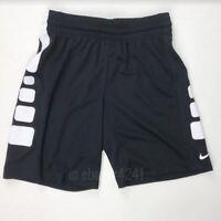 New Nike Elite Basketball Training Short Youth Boy's Medium Black White 872387