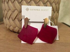 KENDRA SCOTT Astoria Rose Gold Plated Maroon Agate Drop Earrings