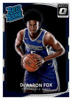 2017-18 Donruss Optic Rated Rookie De'Aaron Fox Kings #196 NBA RC