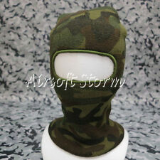 SWAT Balaclava Hood 1 Hole Full Head Face Stretchy Mask Protector Woodland Camo