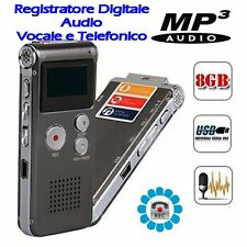 Registratore SPY Digitale Audio Vocale SK012 e Telefonico 8GB MP3 con VOX