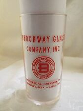1954 Brockway Drinking Glass Open House, Crenshaw PA, Muskogee OK,Lapel IN (C50)