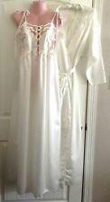 Natori Ivory Peignoir Nightgown Robe Bridal Medium