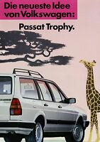 Prospekt VW Passat Variant Trophy 2/87 1987 Autoprospekt Sondermodell Broschüre
