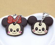 Mini Mouse Micky Mouse Key Top Head Cover Chain Cap Keyring Party Favor Gift