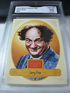 LARRY FINE THE THREE STOOGES 2012 PANINI GOLDEN AGE # 55 GRADED 10  L@@@K