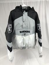 NFL Team Apparel Oakland Raiders Black Jacket Removable Hoodie Football Size L