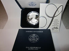2008 - W American Eagle One Ounce Silver Proof Coin with COA