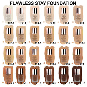 Beauty Creations Flawless Stay Foundation Hydrating Vitamin E Long Wear Oil Free