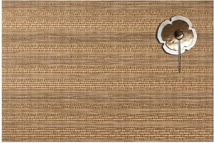 Woven Vinyl Brown Placemats For Dining Table Non-Slip Heat Insulation Set Of 6