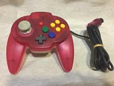 Hori Pad Mini Nintendo 64 game Controller Tropical Red Clear used N64 Japan rare
