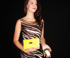 Kate Spade Wesley Place Natalie Crossbody Leather ENVELOPE Clutch RARE YELLOW