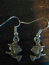 Earrings Flying Witch Silver