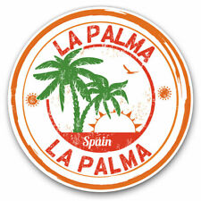 2 x Vinyl Stickers 10cm - La Palma Spain Espana Palm Trees Cool Gift #6101