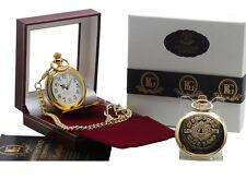 THE BEATLES SGT PEPPER Oro Orologio Da Taschino Regalo Di Lusso In Scatola 24k placcato bianca di Sergent