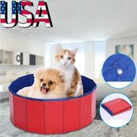 Pet Foldable PVC Swimming Pool Pet Dog Cat Bathing Tub Bathtub Dogs Washer USA