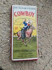 Vintage Campbell Cowboy Firecracker label