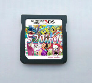 520 in1 Video Games Cartridge Cards For DS NDS 2DS 3DS NDSI NDSL Gift