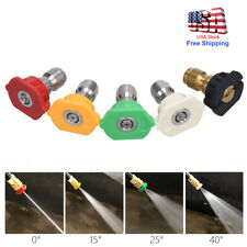 "5Pack Pressure Washer Spray Nozzles Tips Jet 1/4"" Quick Connect 4.0 GPM Car Wash"