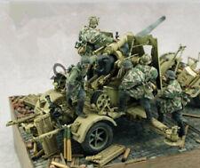1:35 German Artillery Crew, Resin Model Kit, 5 Soldiers Figure, WWII, (NO GUN)