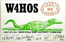 Cartolina QSL Radioamatori USA Miami, Dade County, Florida 1971 Florida DX Club