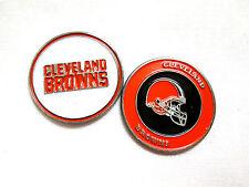 NFL Cleveland Browns Golf Ball Marker Enamel Metal Team Logo 2 Sided Hat