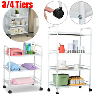 3/4 Shelf Large Salon Trolley Cart Beauty Spa Storage Equipment Rack