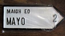 Mayo Connacht Hand Cast Irish Road Sign Replica Hand Made in Ireland.