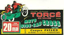 AUTOCOLLANT - COURSE MOTO SIDE-CAR CROSS : AU MANS FRANCE 1982 / STICKERS