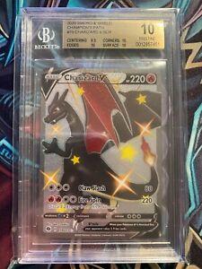 2020 Pokemon Sword Shield Champion's Path Charizard V Shiny SCR BGS 10 PRISTINE