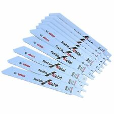 10 BOSCH S922BF 150MM BI-METAL RECIPROCATING SAW BLADES FLEXIBLE FOR METAL
