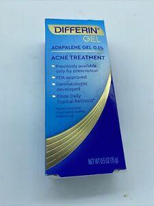 DIFFERIN  0.1% Adapalene Gel .5oz Acne Treatment Skin Clear 10/22