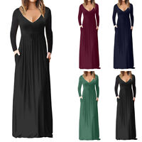 Long Maxi Dress Casual Waist For Women With Pocket Maxi Dress Extravagant
