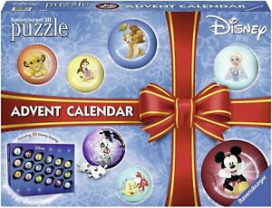 Ravensburger Italy - Calendario dell'Avvento Disney Classic Puzzle 3D