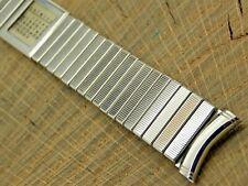 Band Expansion Stainless Mens 19mm Nos Unused Vintage Kreisler Calendar Watch