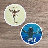 Nirvana Nevermind In Utero Album Covers Vinyl Sticker Set - Free Shipping