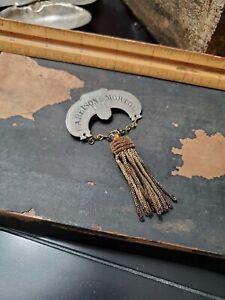 Rare Early Political Presidential pin medal 1888 Harrison & Morton Republican