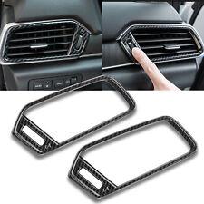 Carbon Fiber Style Interior Air Condition Vent Cover Trim For Honda Accord 18-20