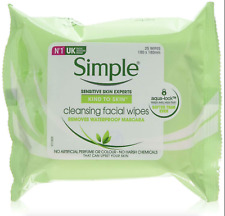 Simple Makeup Eye Remover Wipes Face Pads Cleansing Skin Moisturise Wipe -3 PACK