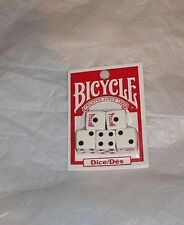 NIP Bicycle Replacement Dice 5 Six-Sided White Dice Black Dots USA Playing Cards