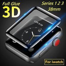 3D Apple Watch Series 1 2 3  38mm Panzerfolie Schutz Glas iWatch Displayschutz