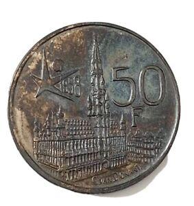 50 Frans, Belgium, 1958.Beautiful Patina. AUN.