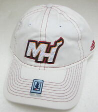 NBA Miami Heat Women's White Slouch Adjustable Hat By adidas