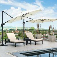10ft Patio Umbrella 360° Rotation Offset Cantilever Outdoor Market Sunshade Yard