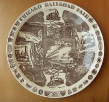 Vernon Kilns Chicago Railroad Fair collector plate~Artist signed~Ultra brown-Nr